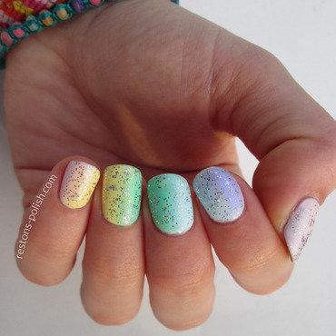 Rainbow nail art by Restons polish