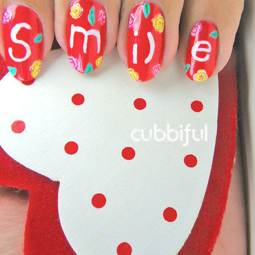 #BeStrongCris nail art by Cubbiful