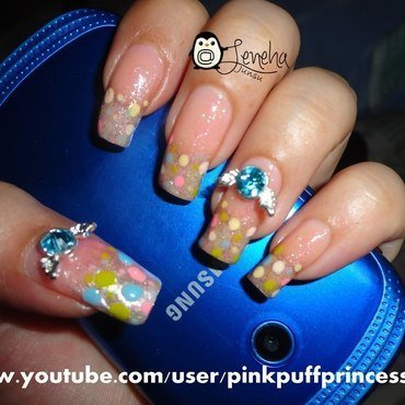 Polka Dots Nails nail art by Leneha Junsu