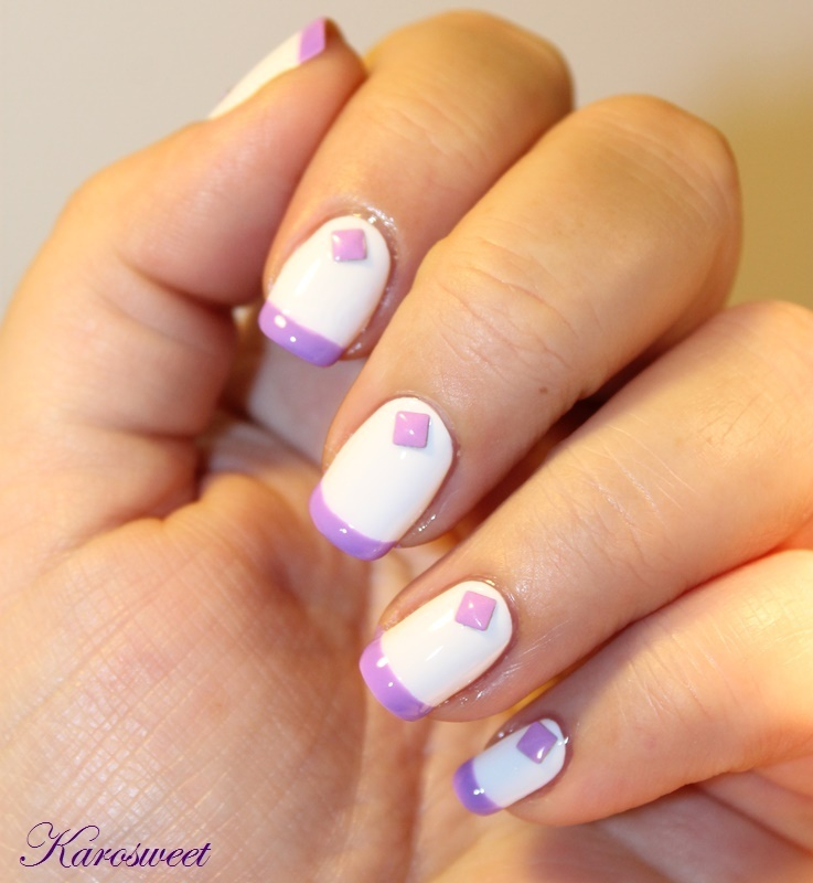 Sweet manucure nail art by Karosweet