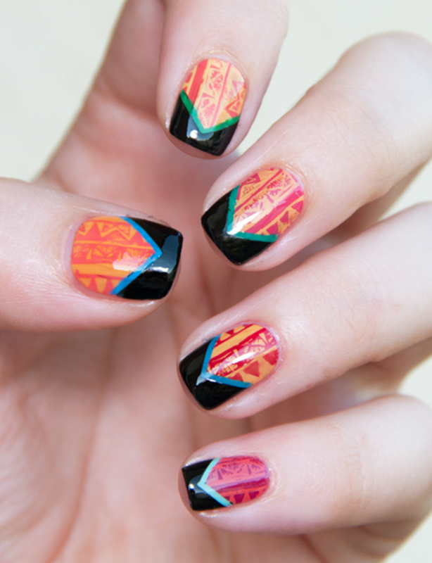 Clahsing Tribal nail art by Chasing Shadows