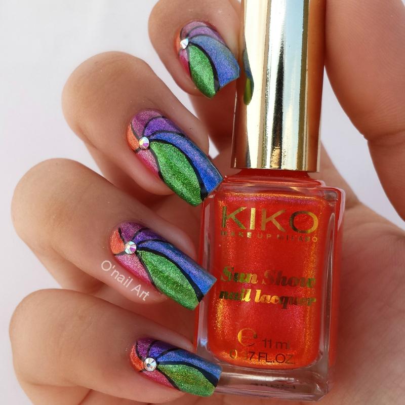 Sun Show Propeller Nails nail art by OnailArt