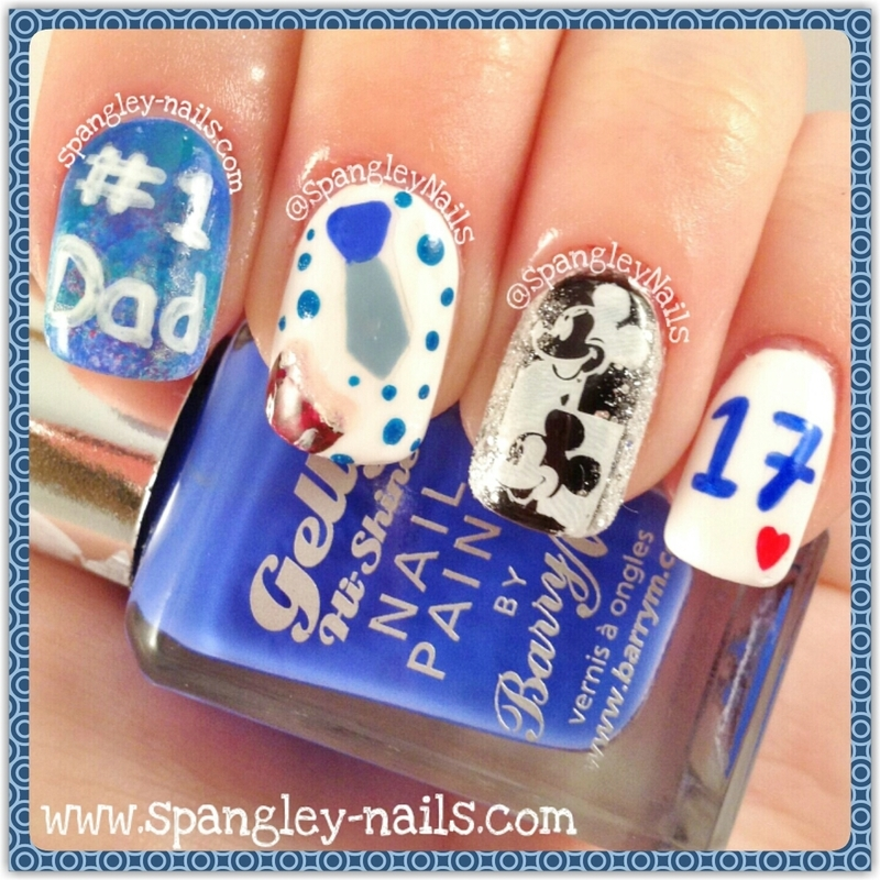Happy Fathers Day nail art by Nicole Louise