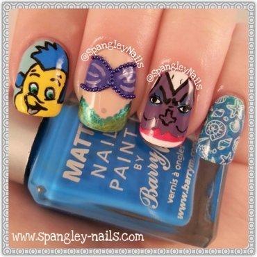 Little Mermaid Nail Art nail art by Nicole Louise