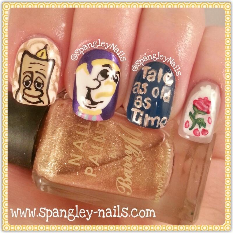 Beauty And The Beast Nail Art Nail Art By Nicole Louise Nailpolis