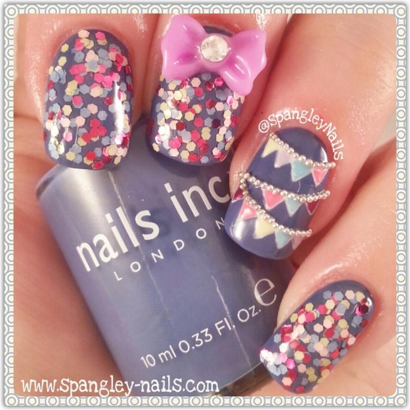 Bunting Nail Art nail art by Nicole Louise
