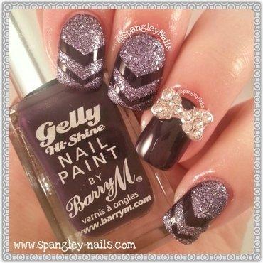 Single Chevron Nail Art nail art by Nicole Louise