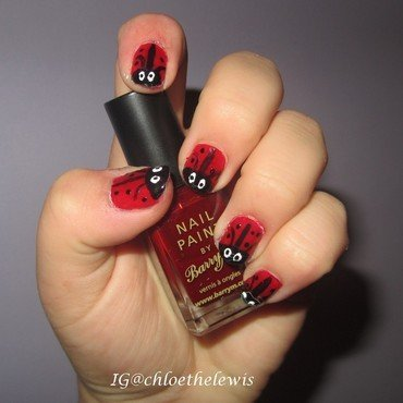 Ladybird Nails! nail art by Chloe Lewis
