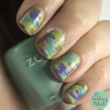 Abstract camouflage nail art 4 thumb370f
