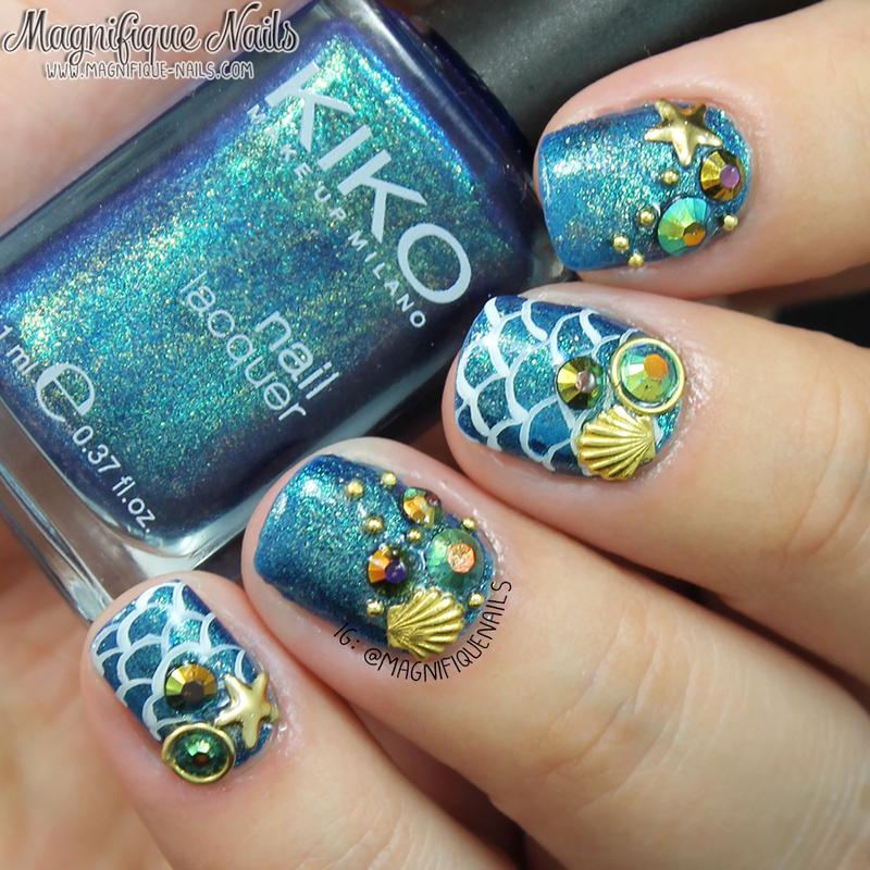 Mermaid Nails nail art by Ana