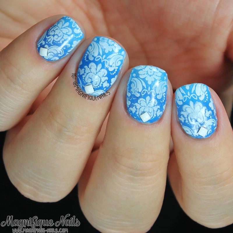 Baroque Nails nail art by Ana