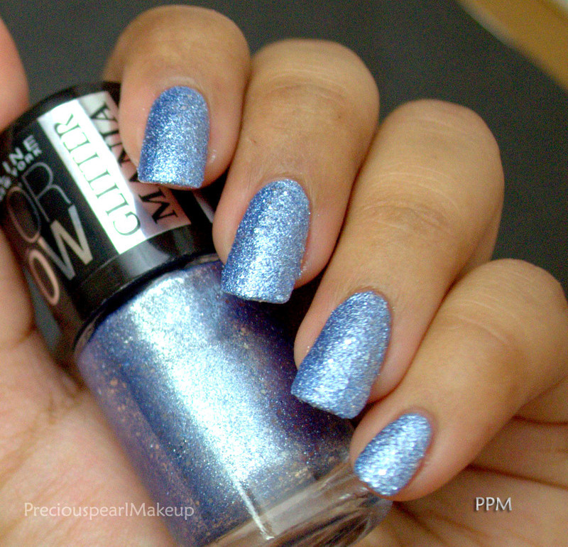 Maybelline Glitter Mania Bling On the Blue Swatch by Pearl P.
