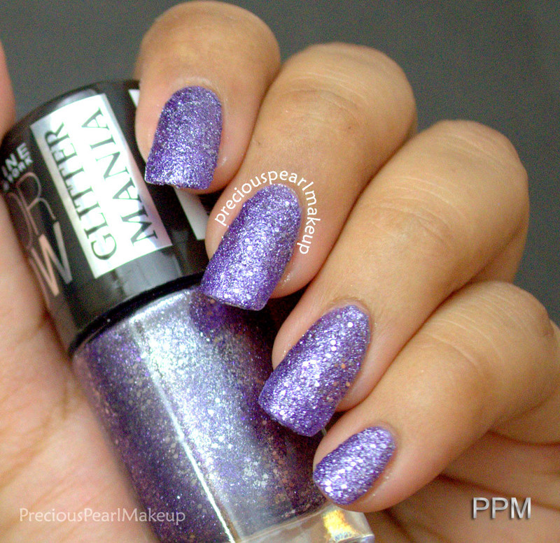Maybelline Glitter Mania Paparazzi Purple Swatch by Pearl P.
