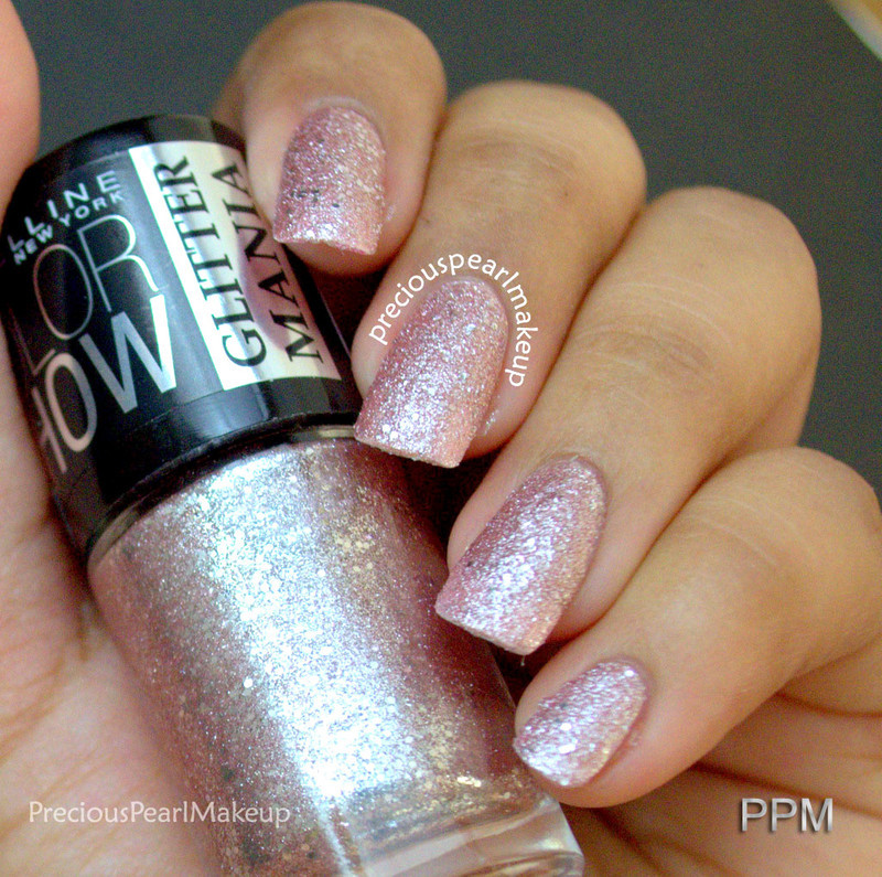 Maybelline Glitter Mania Pink Champagne Swatch by Pearl P.