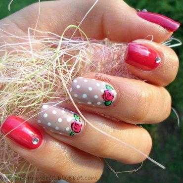 femininity nail art by Edyta