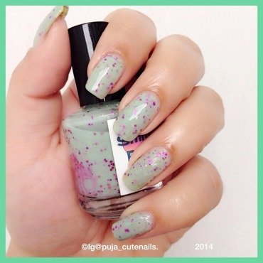 Smitten Polish Pink goes good with green Swatch by Puja Malhotra