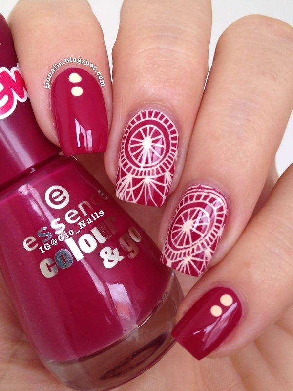 Berry With PUEEN nail art by Giovanna - GioNails