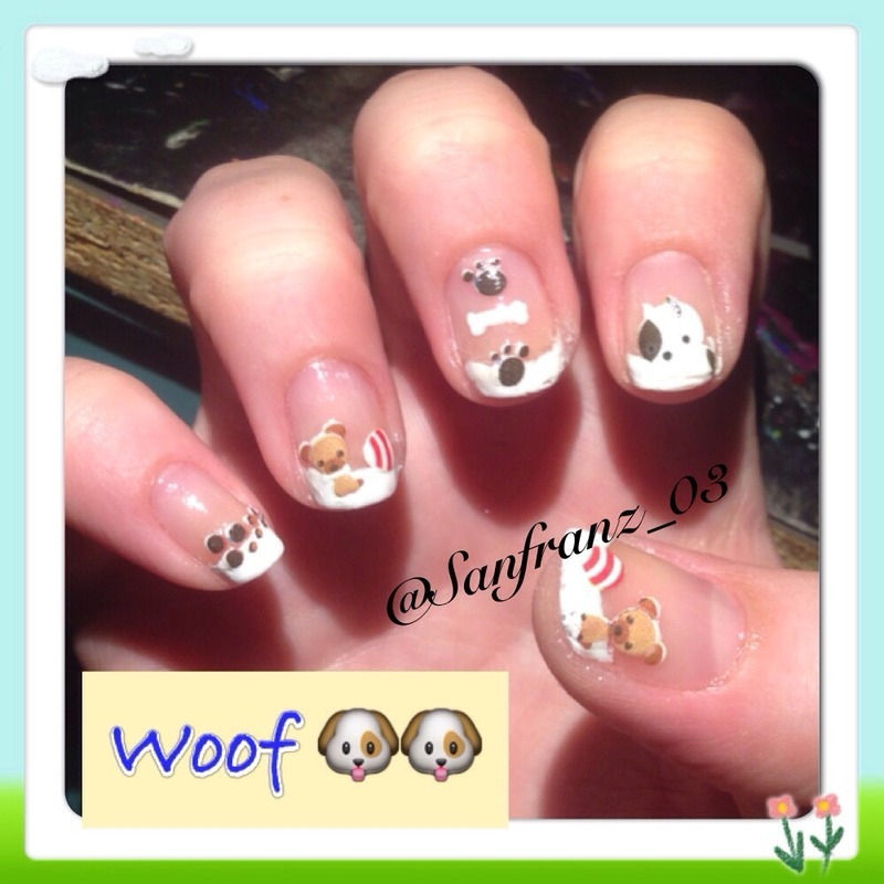 Doggie nails! nail art by Sandy