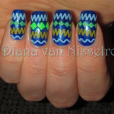 Tribal nail art by Diana van Nisselroy