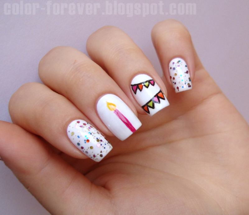 first blog anniversary nail art by ania