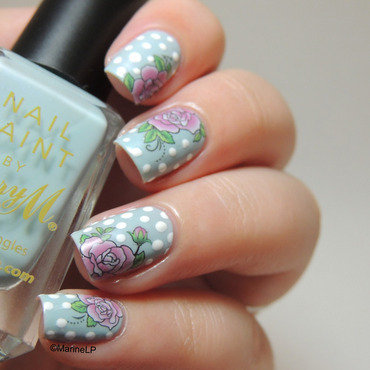 Vintage floral nails with water decals 20 1  thumb370f