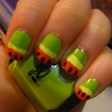Watermelons nail art by faerietalenails