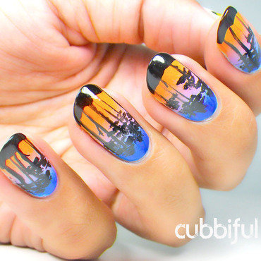 This Is Not Miami Vice  nail art by Cubbiful