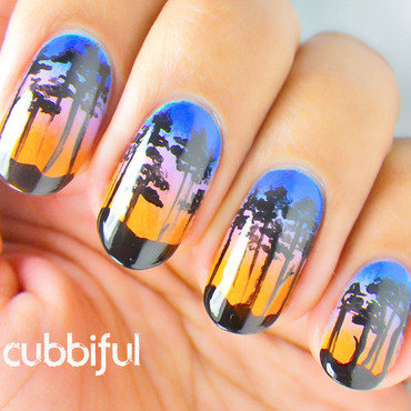 This Is Not Miami Vice - Upclose nail art by Cubbiful