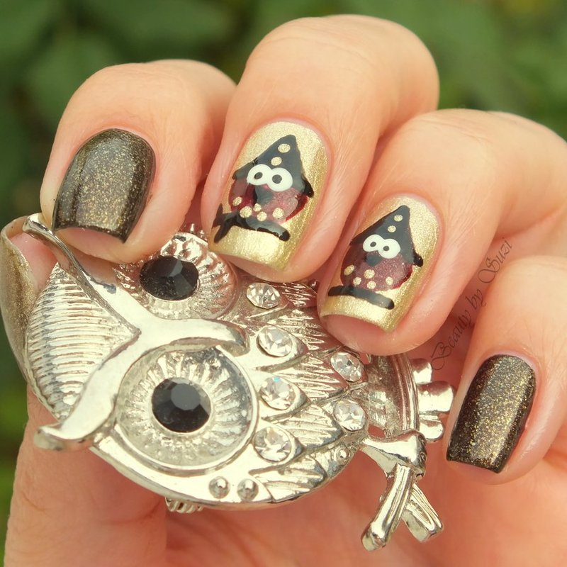 Owl Witch nail art by Suzi - Beauty by Suzi