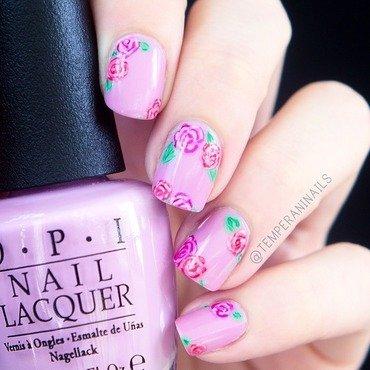 Roses nail art by Temperani Nails