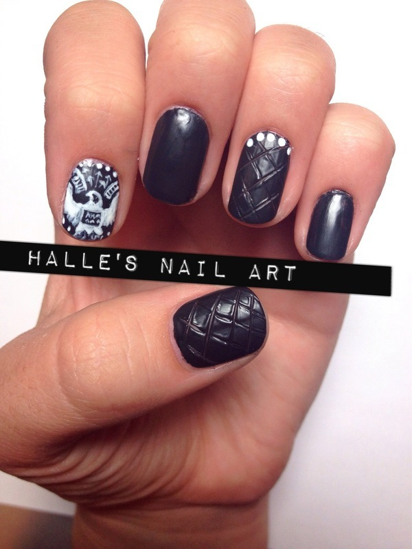 Freedom Is the New Black nail art by Halle Butler