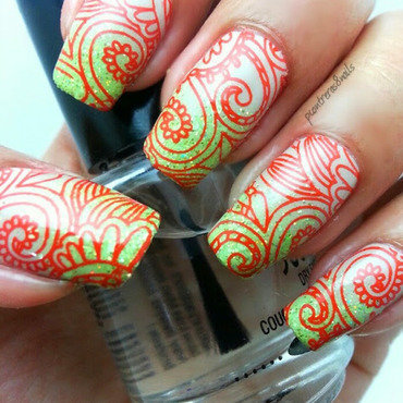 Shower with flowers nail art by pcontreras8nails