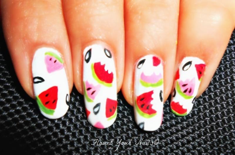 Watermelon! nail art by Vidula Kulkarni