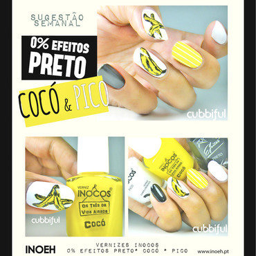 Andy Warhol Goes Bananas With Inocos nail art by Cubbiful