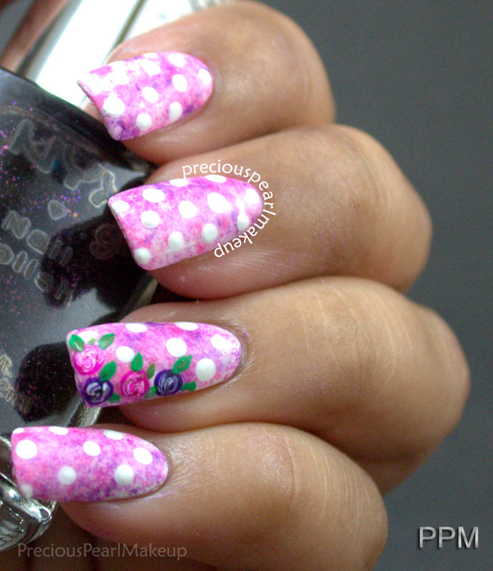 Floral Nails with dotticure nail art by Pearl P.