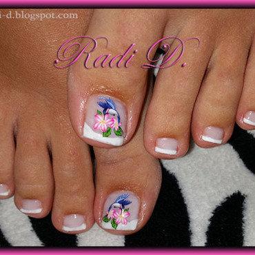 My french toes nail art by Radi Dimitrova