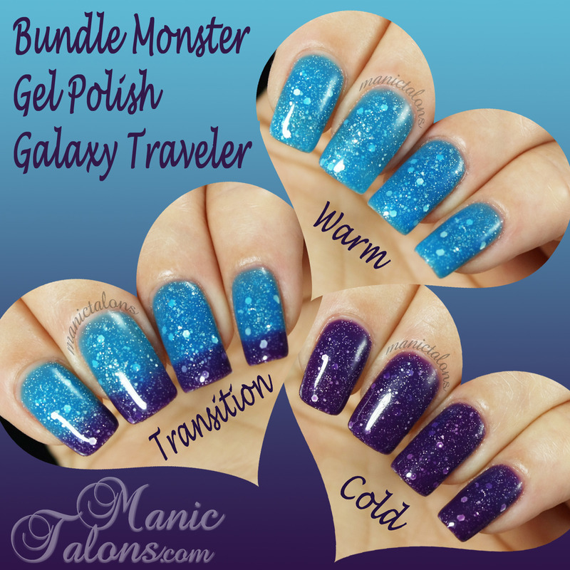 Bundle Monster Gel Polish Galaxy Traveler Swatch by ManicTalons