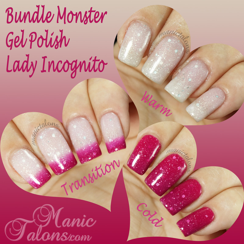 Bundle Monster Gel Polish Lady Incognito Swatch by ManicTalons