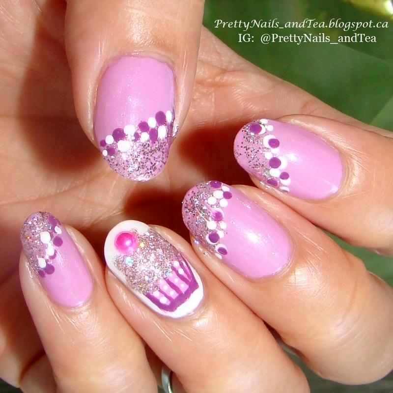 Keep Calm and Eat A Cupcake nail art by PrettyNailsAndTea