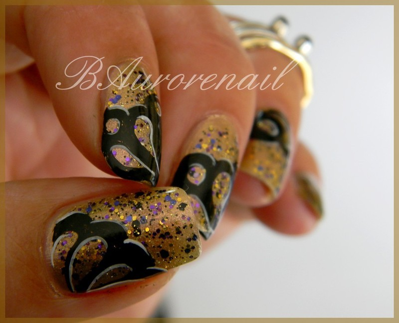 nail art abstrait nail art by BAurorenail