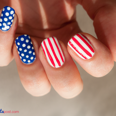 Independence Day nail art by Kate C.