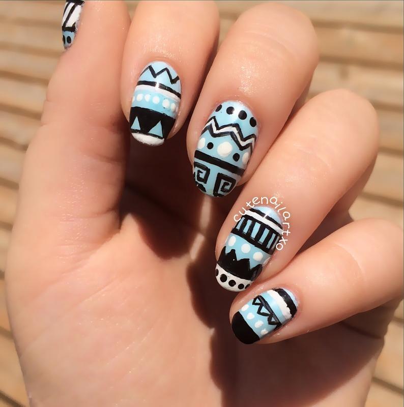 Tribal nails 😍 nail art by Kristen
