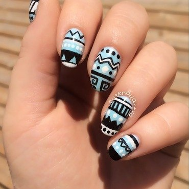 Tribal nails 😍 nail art by Kristen