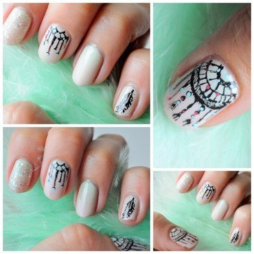 Dreamcatcher nail art by Tiffany Blue