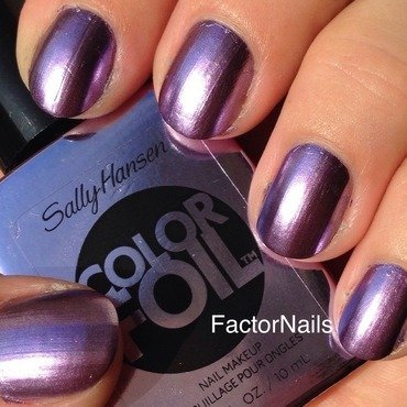 Sally Hansen Purple Alloy Swatch by Factornails