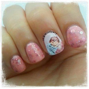 little angel nail art by mindywong