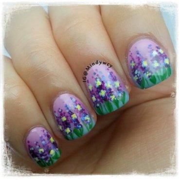 delphinium garden nail art by mindywong