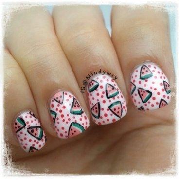 """watermelon """"pop""""sicle nail art by mindywong"""