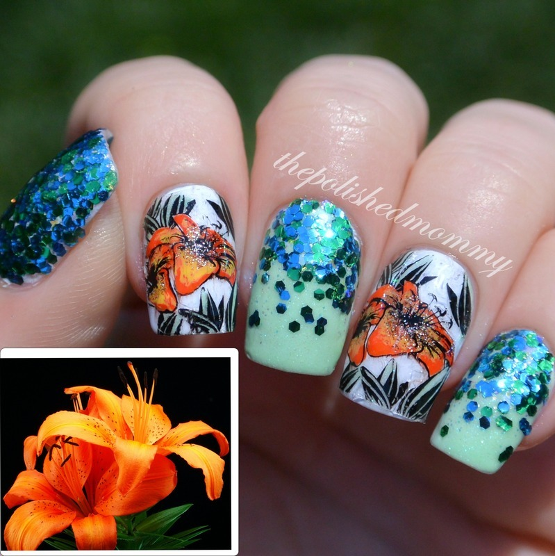 Cult Nails Lily Nailspiration nail art by The Polished Mommy