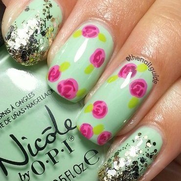 Vintage Roses nail art by thenailguide